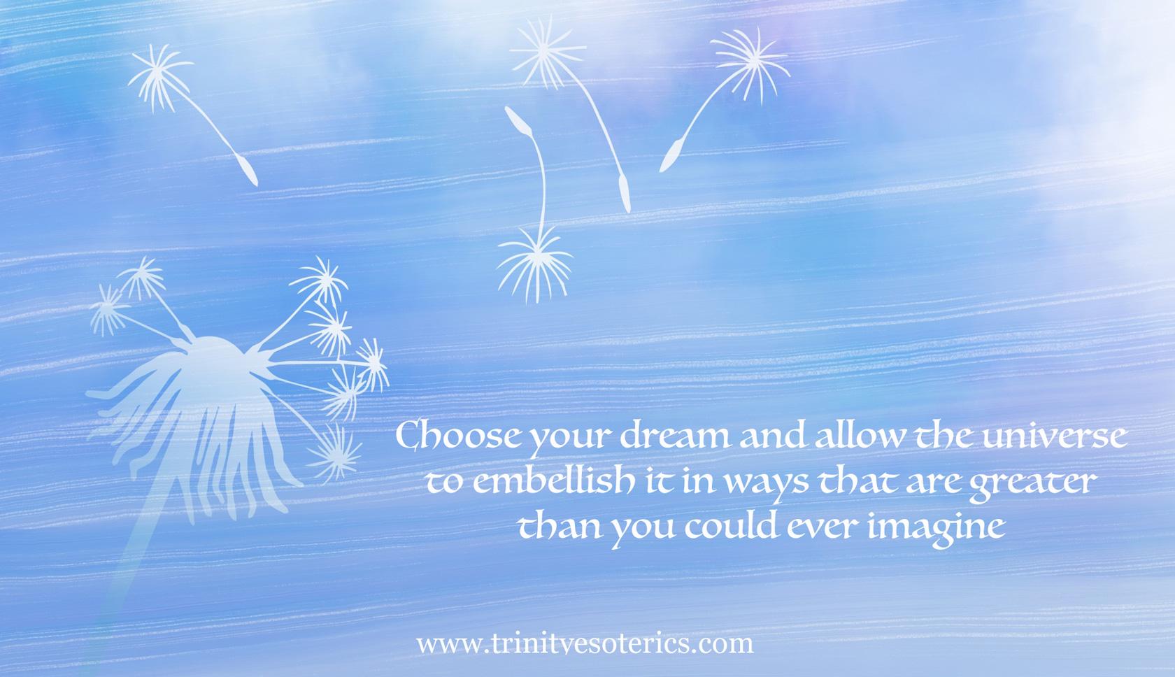 dandelion wishes choose dream trinity esoterics