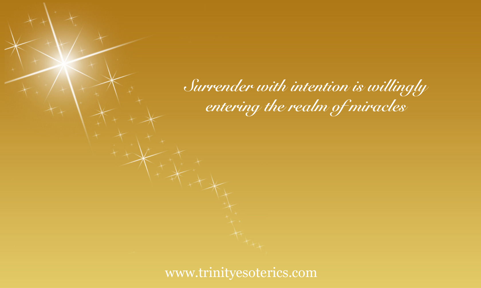 sparkle star shine flow miracles trinity esoterics