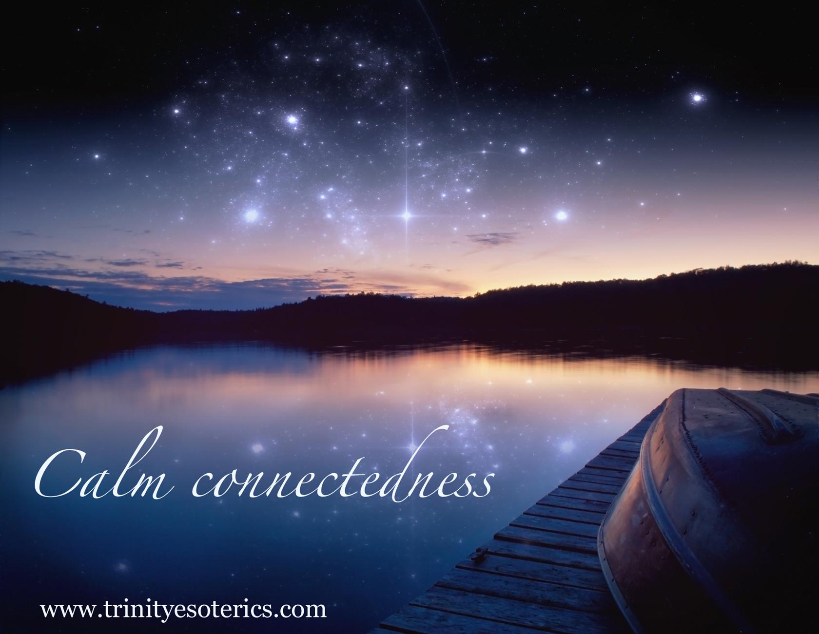 starry night sky reflection trinity esoterics
