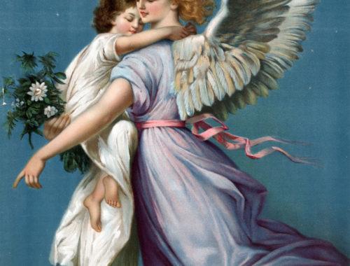 angel holding child trinity esoterics