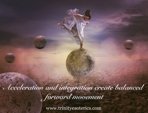 woman balancing on sphere trinity esoterics