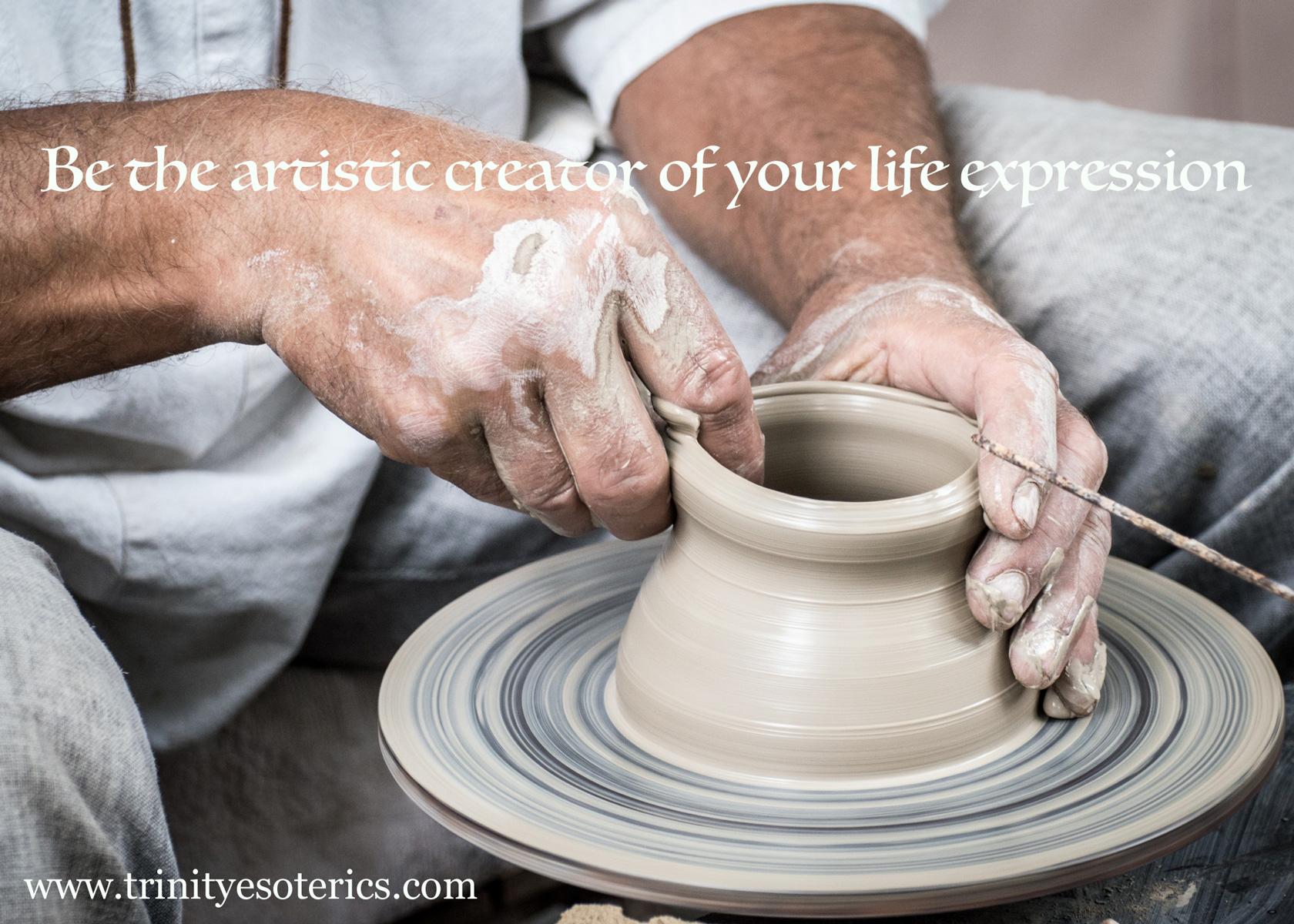 hands molding clay trinity esoterics