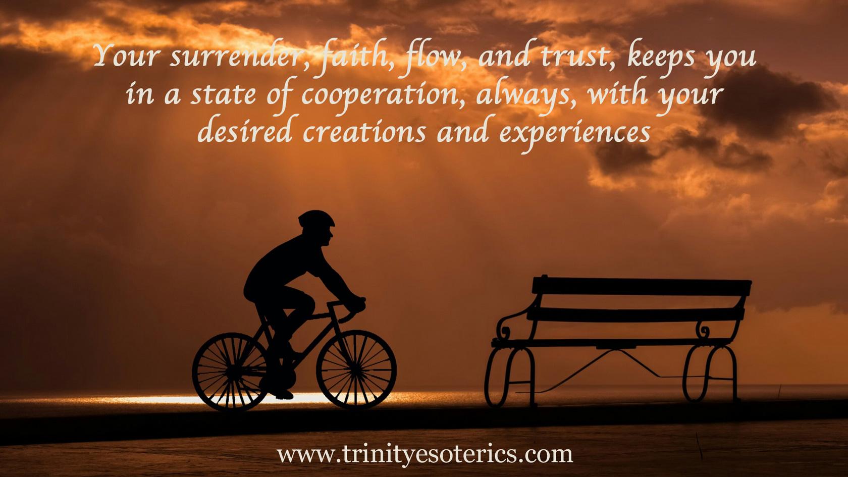 sunset bicycle bench trinity esoterics