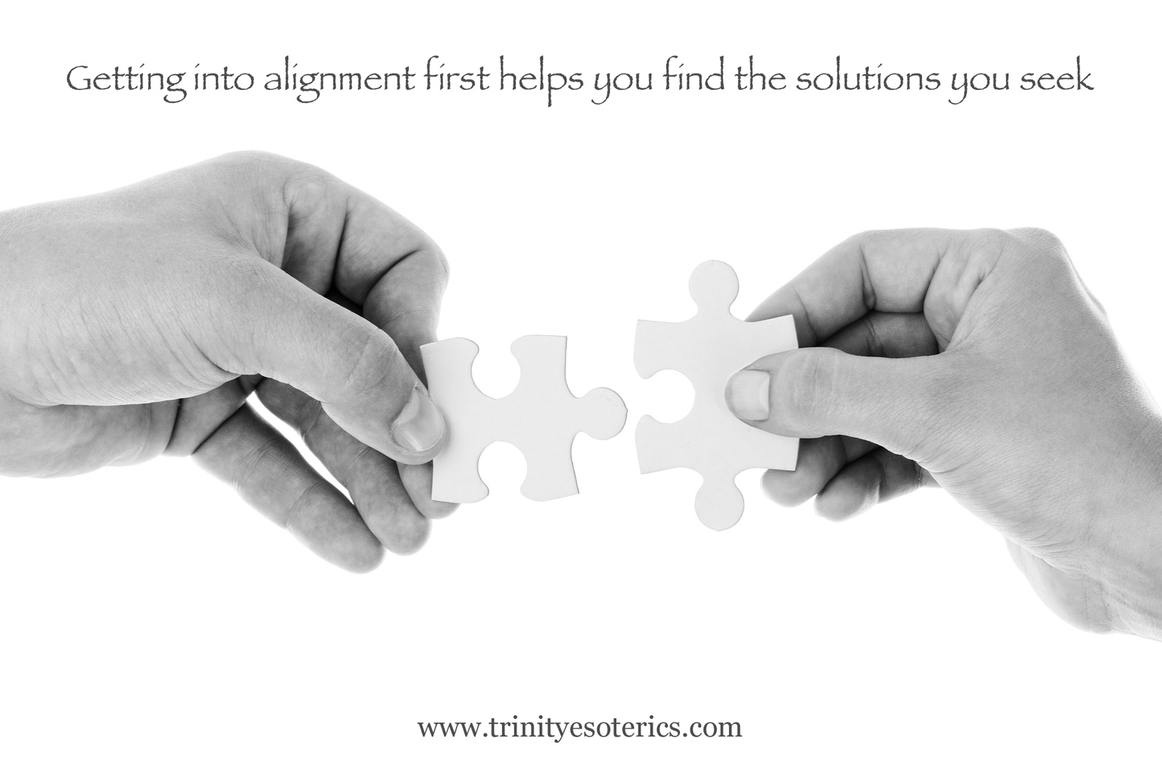 hands lining up puzzle piece trinity esoterics