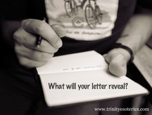 man writing letter trinity esoterics