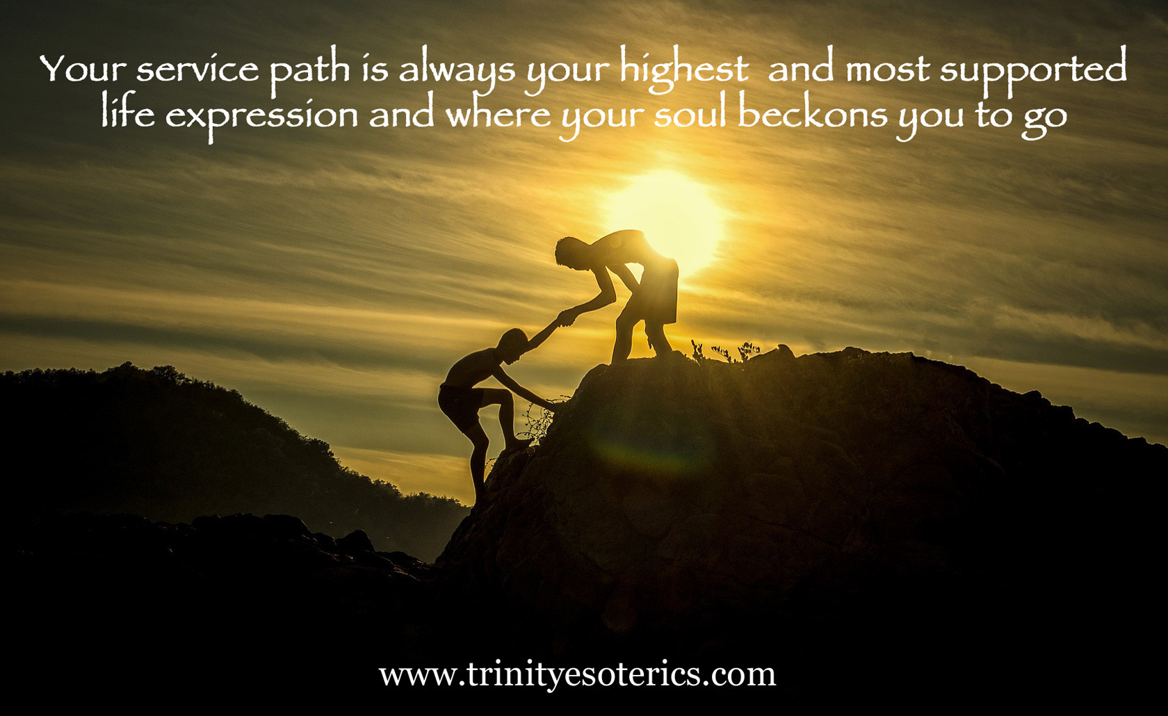 helping hand mountain top trinity esoterics