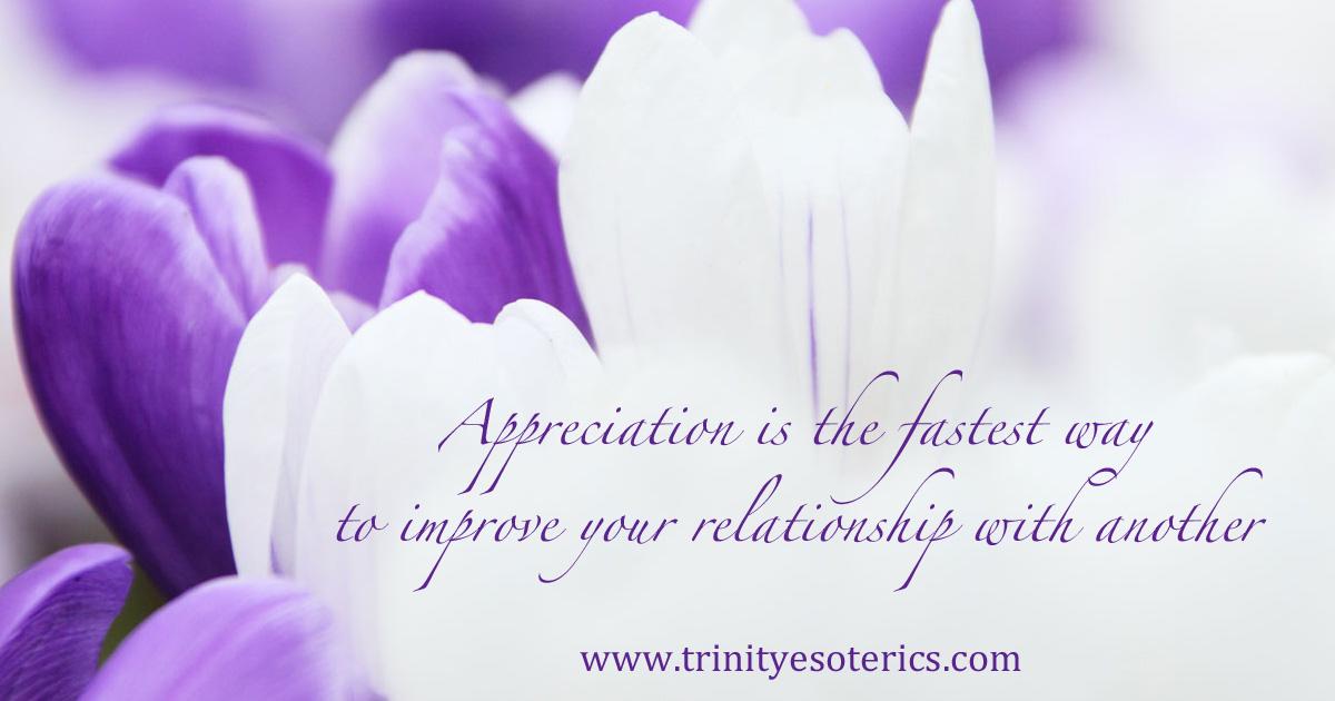 appreciationisthefastestwaytoimproveyourrelationshipwithanother