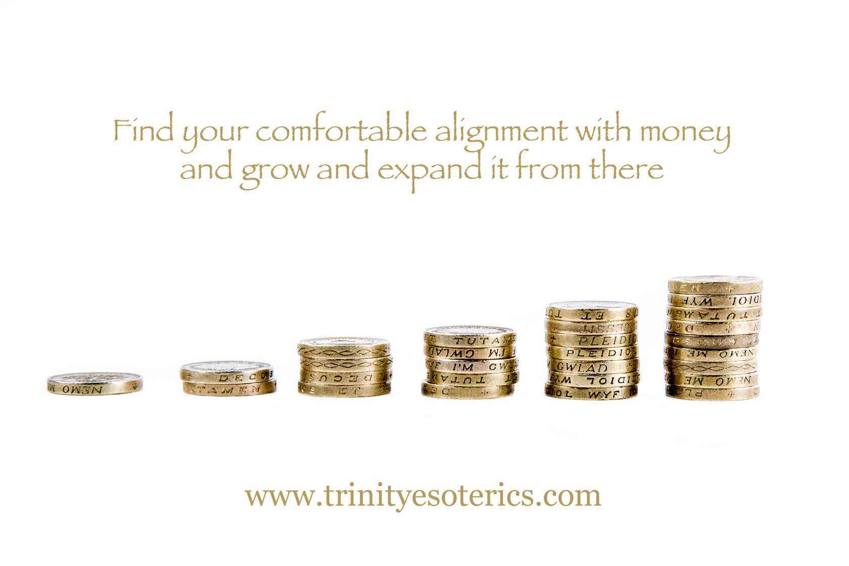 golden coin stacks trinity esoterics