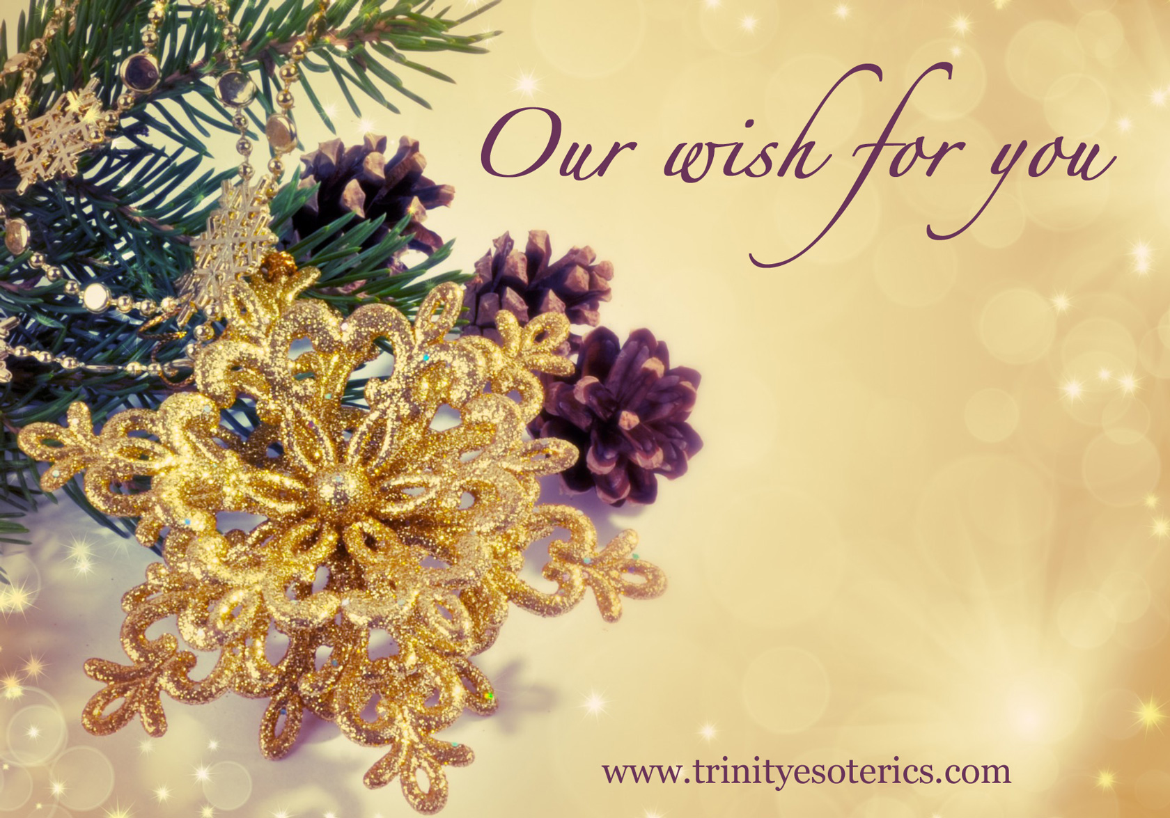 ornaments on golden background trinity esoterics