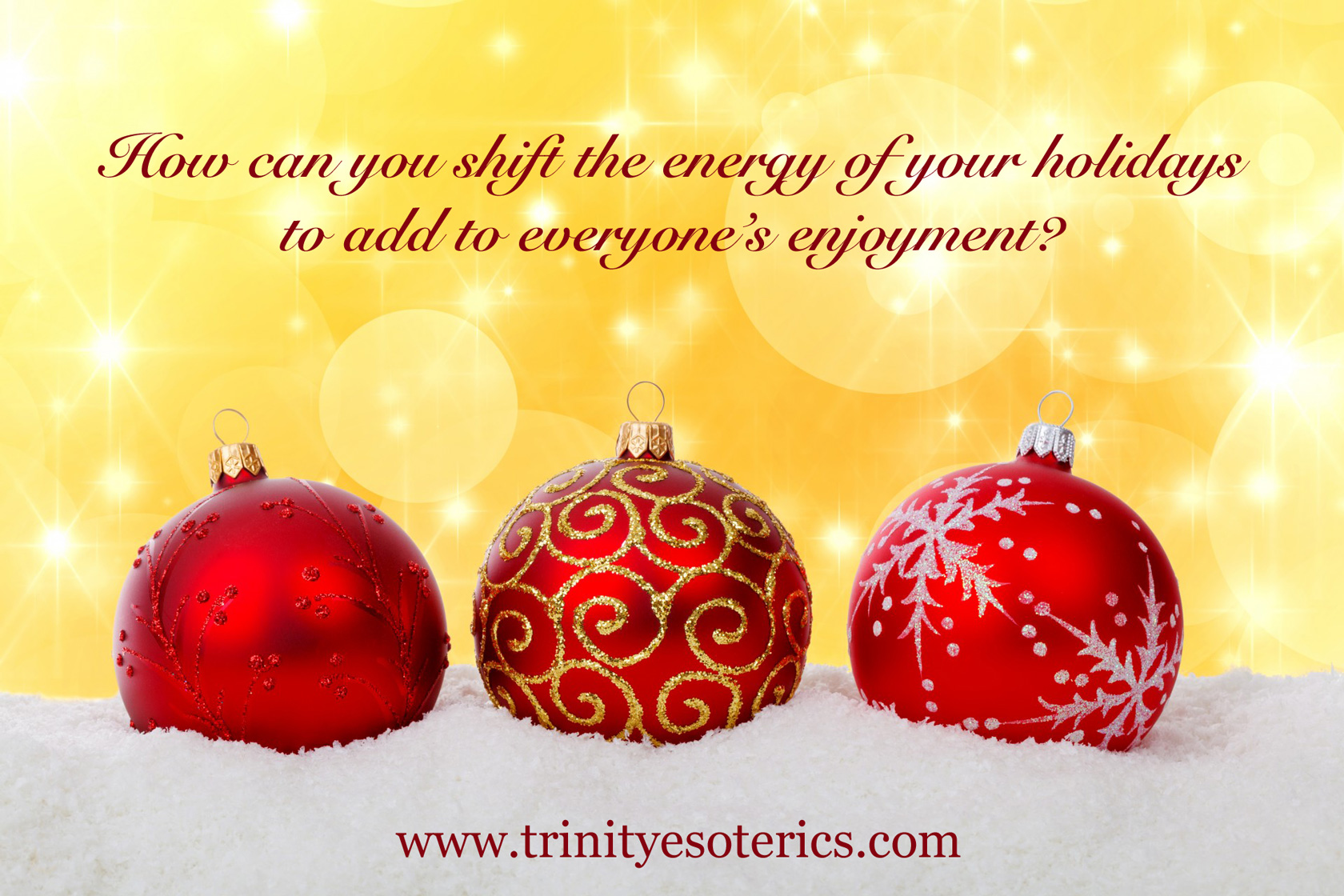 christmas ornaments golden light trinity esoterics