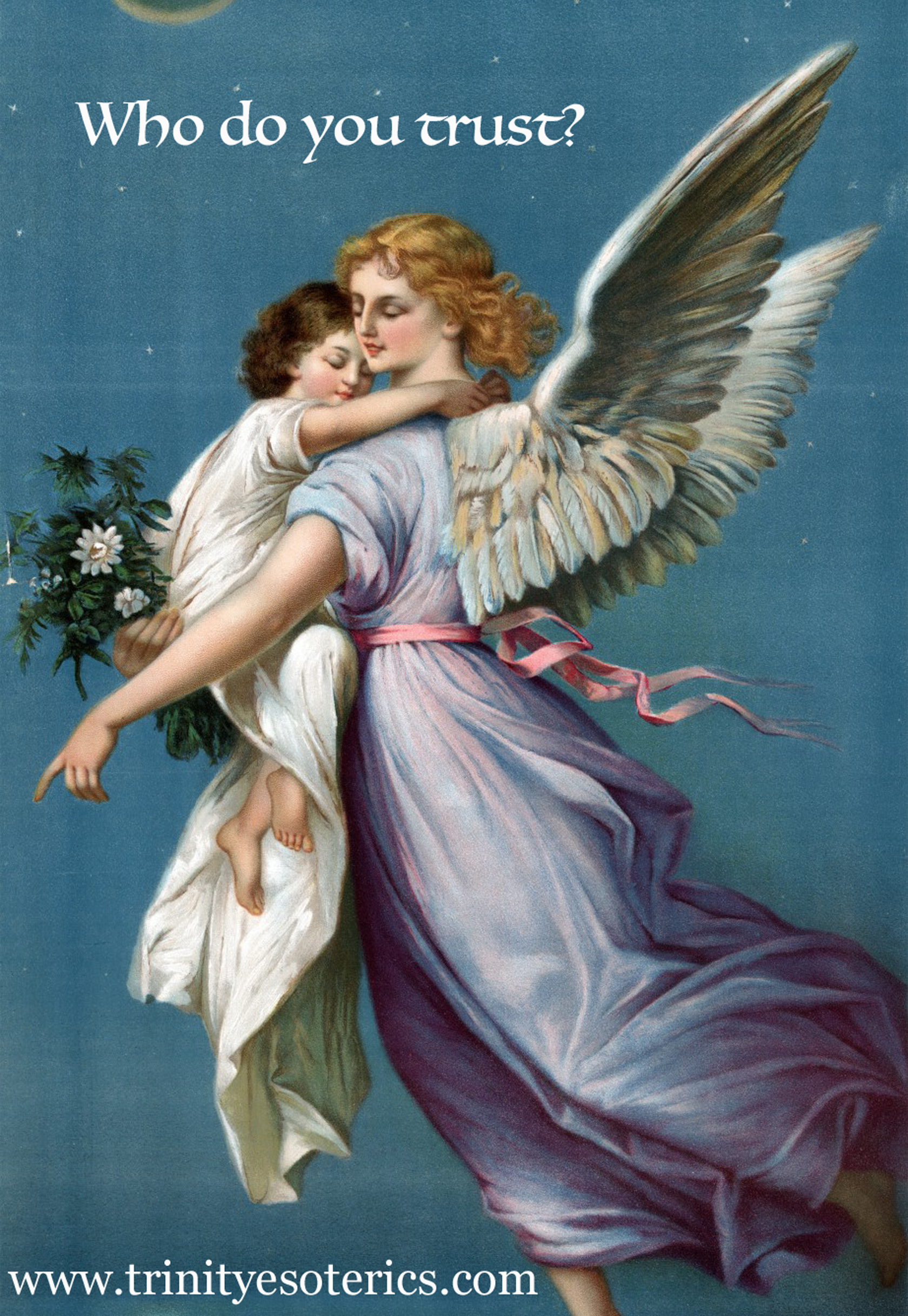 angel holding child trinity esoterics