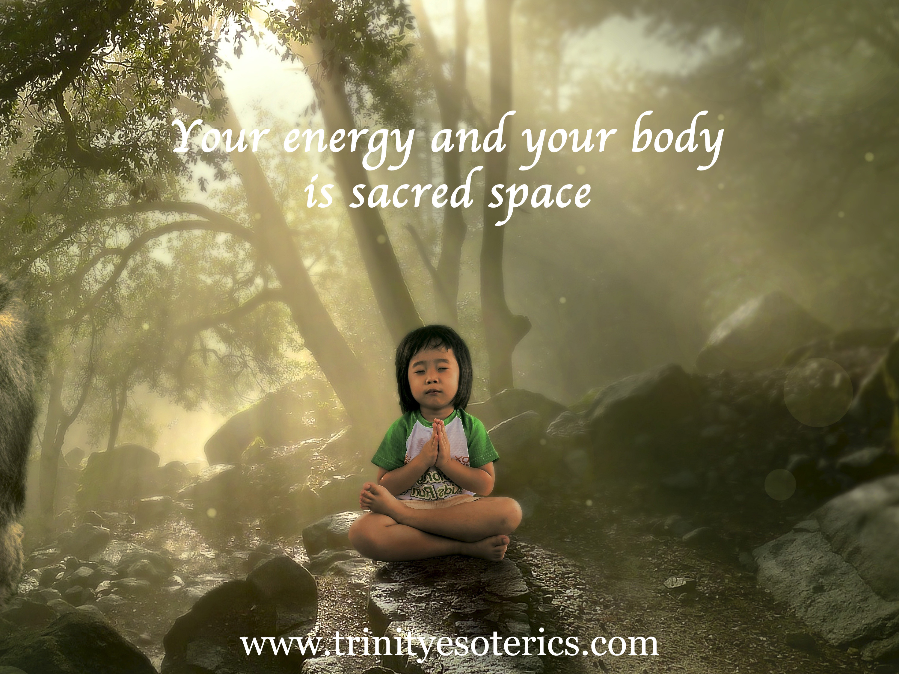 meditating child trinity esoterics