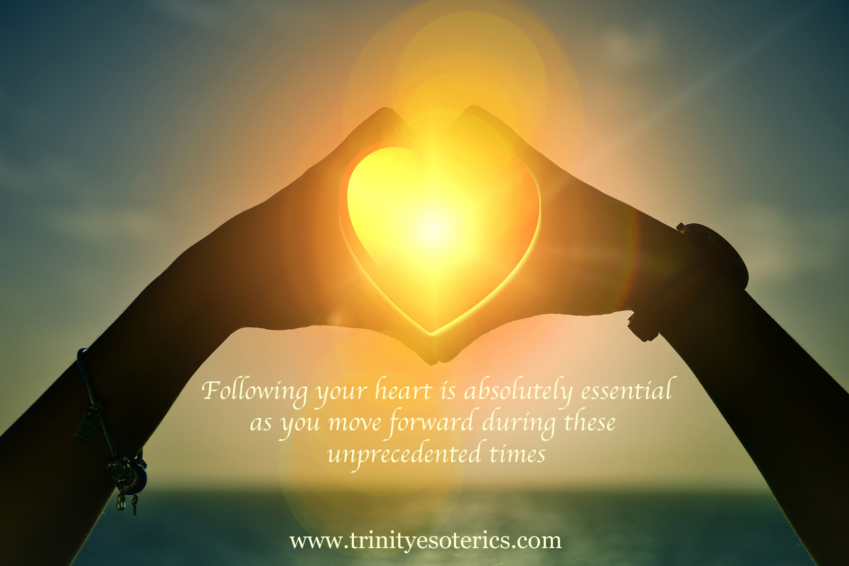 glowing golden heart light trinity esoterics
