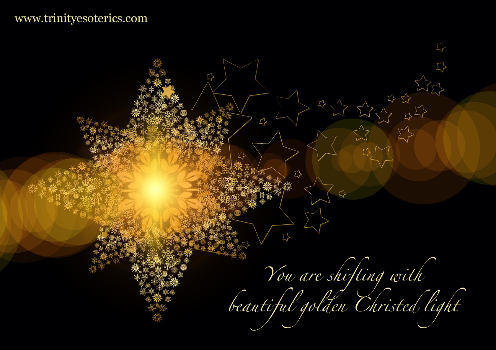 sparkling golden star trinity esoterics
