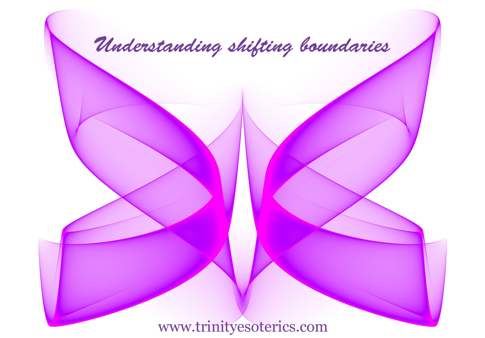 abstract magenta ribbons trinity esoterics