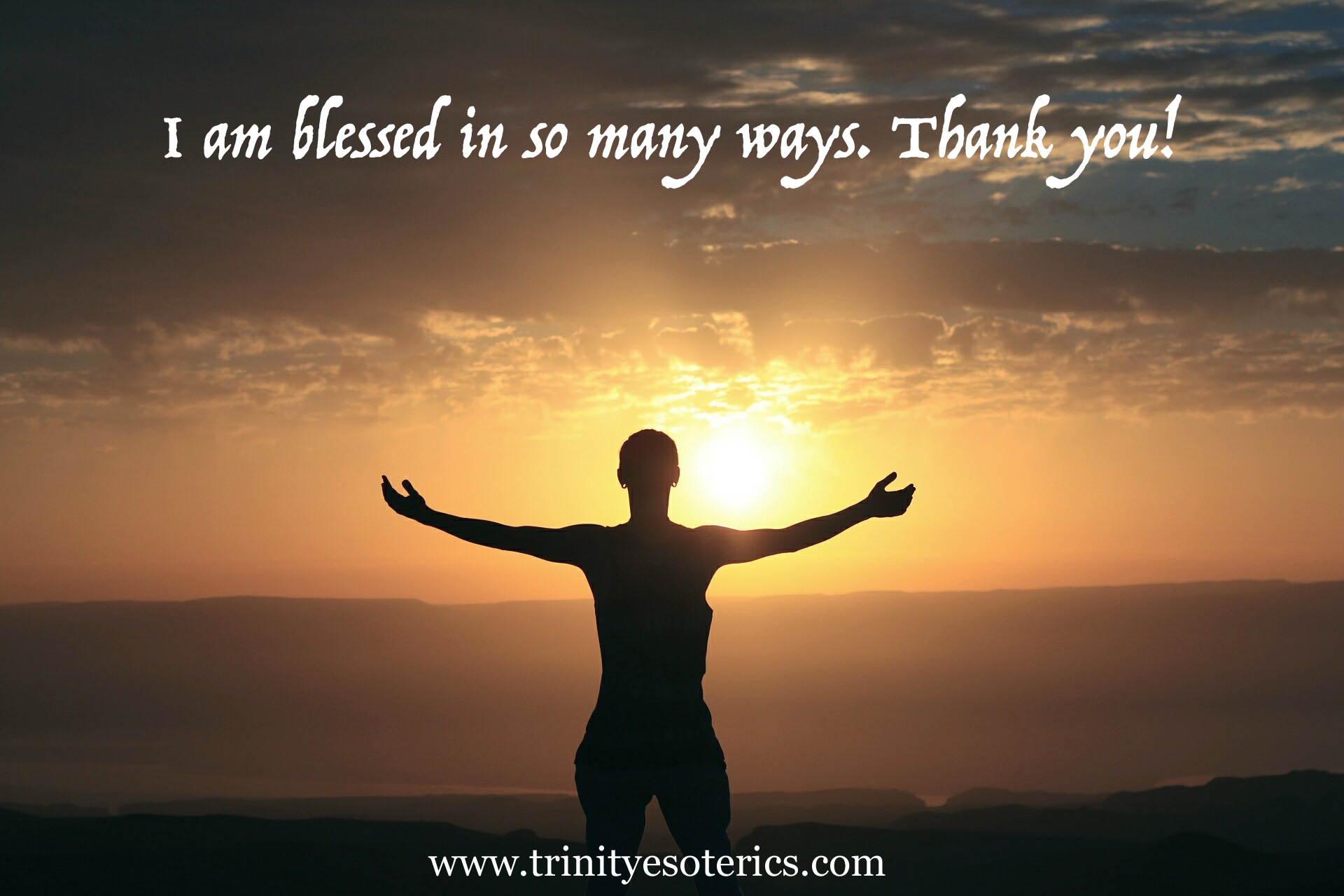 woman with outstretched arms greeting the day trinity esoterics