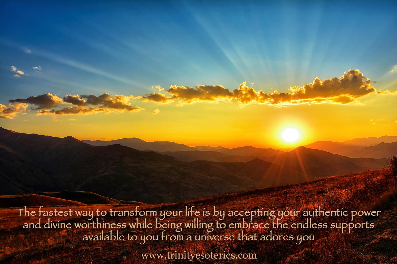 sun rays over mountains trinity esoterics