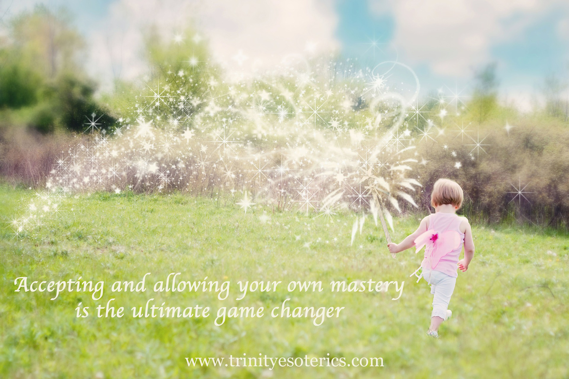 little girl leaving a trail of sparkles trinity esoterics