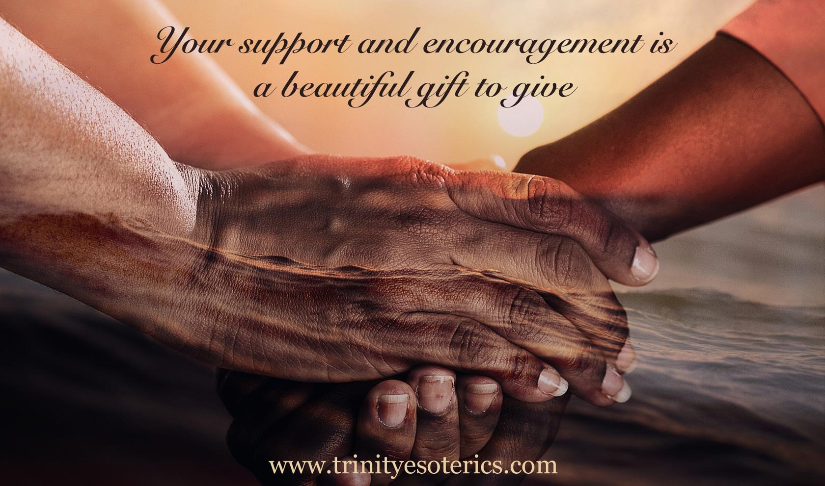 supportive hands trinity esoterics
