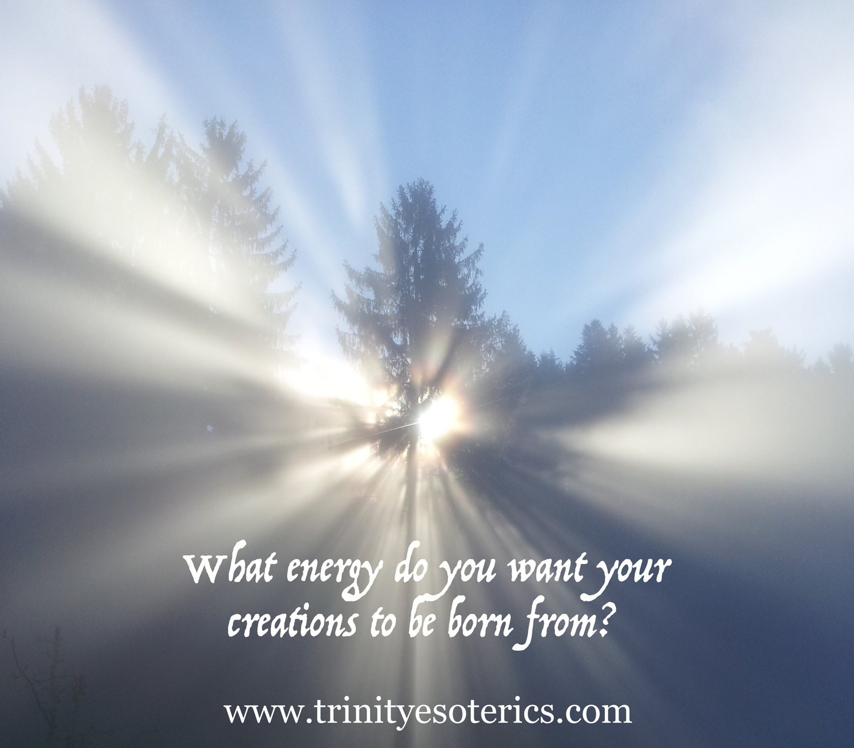 breaking dawn through tree trinity esoterics