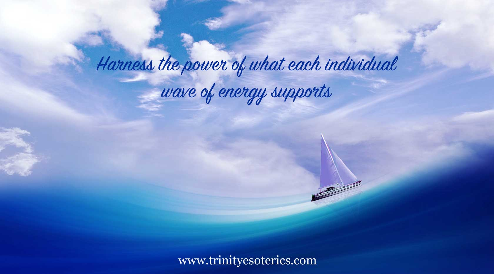 sailboat being moved by big wave trinity esoterics