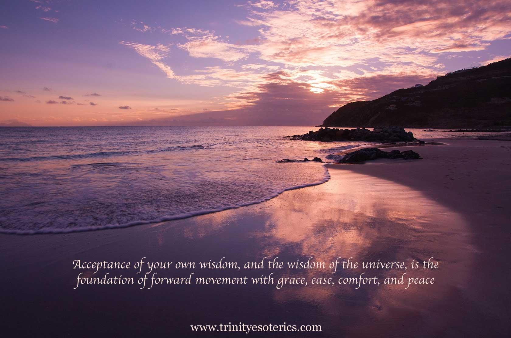 calm ocean pink sky trinity esoterics
