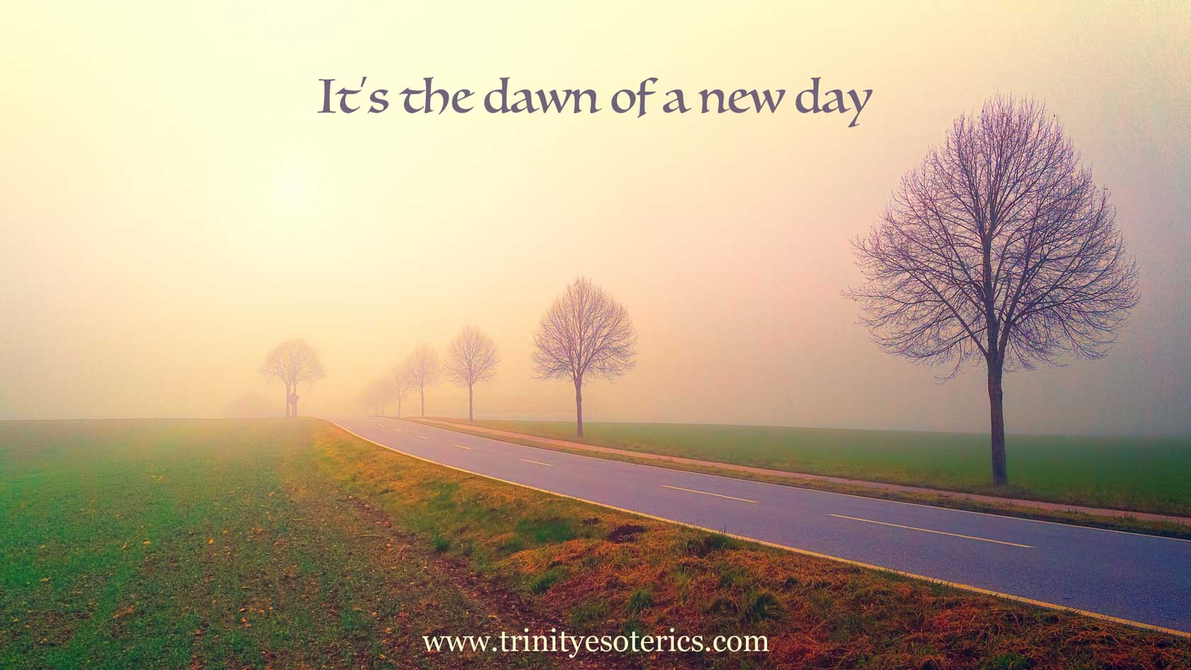 road at dawn trinity esoterics
