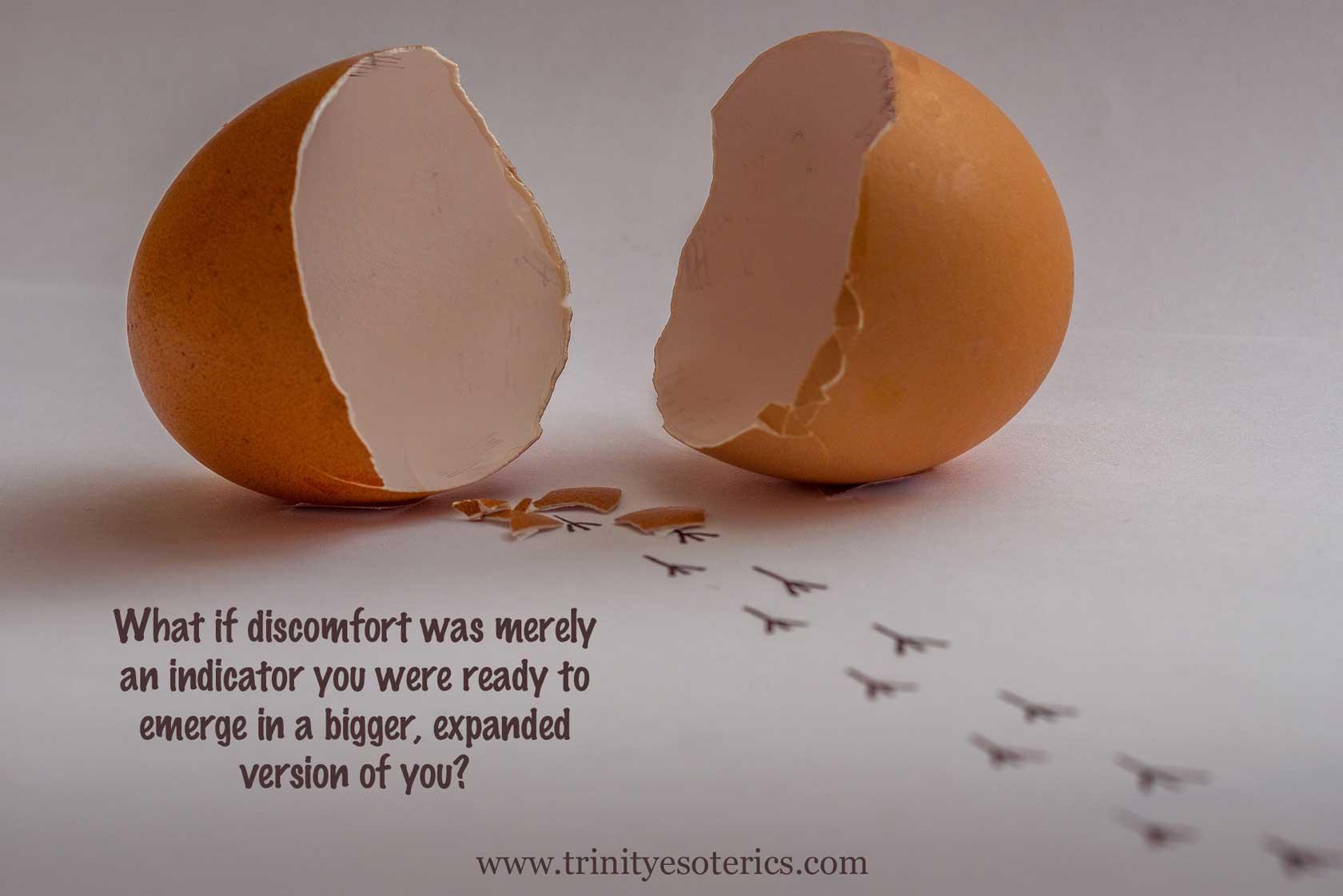 empty egg shell trinity esoterics