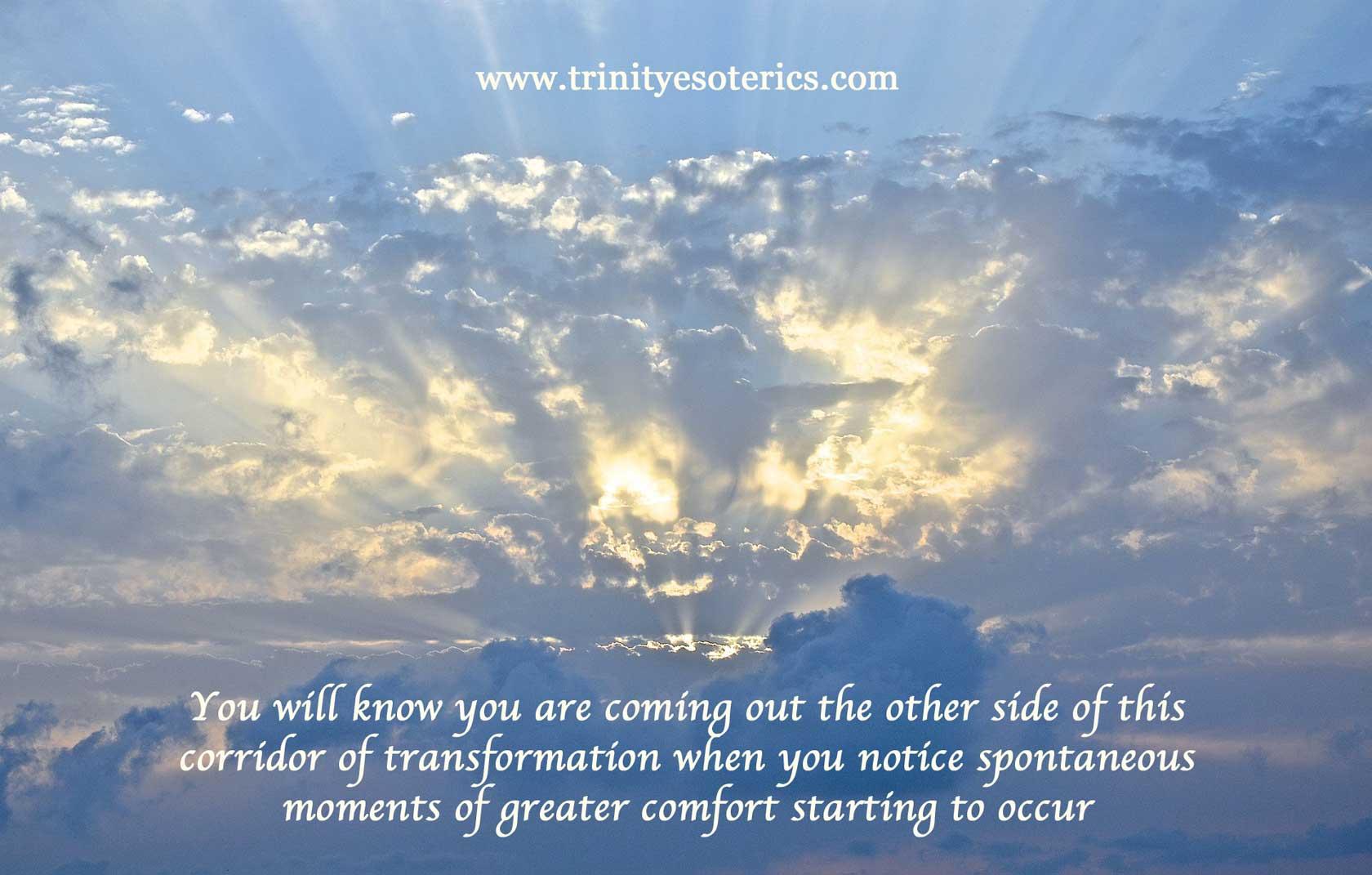 light breaking through clouds trinity esoterics