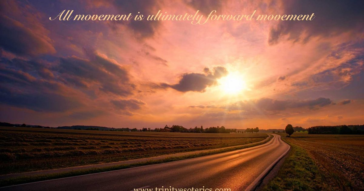 winding road under pink sky trinity esoterics
