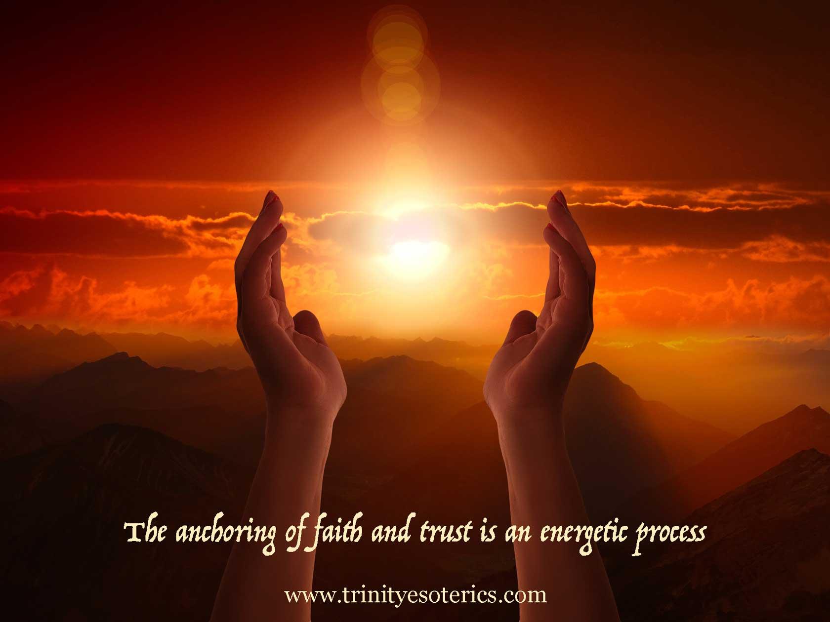 hands reaching toward light trinity esoterics