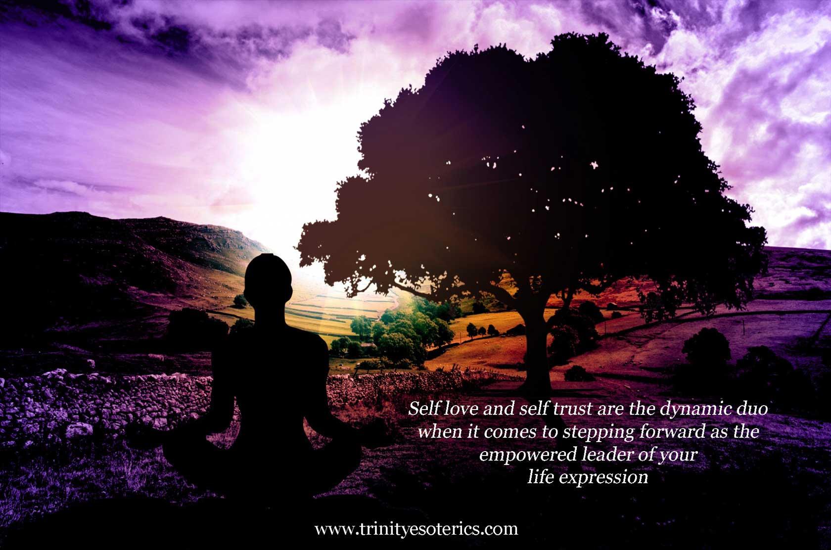 woman sitting in yoga pose trinity esoterics
