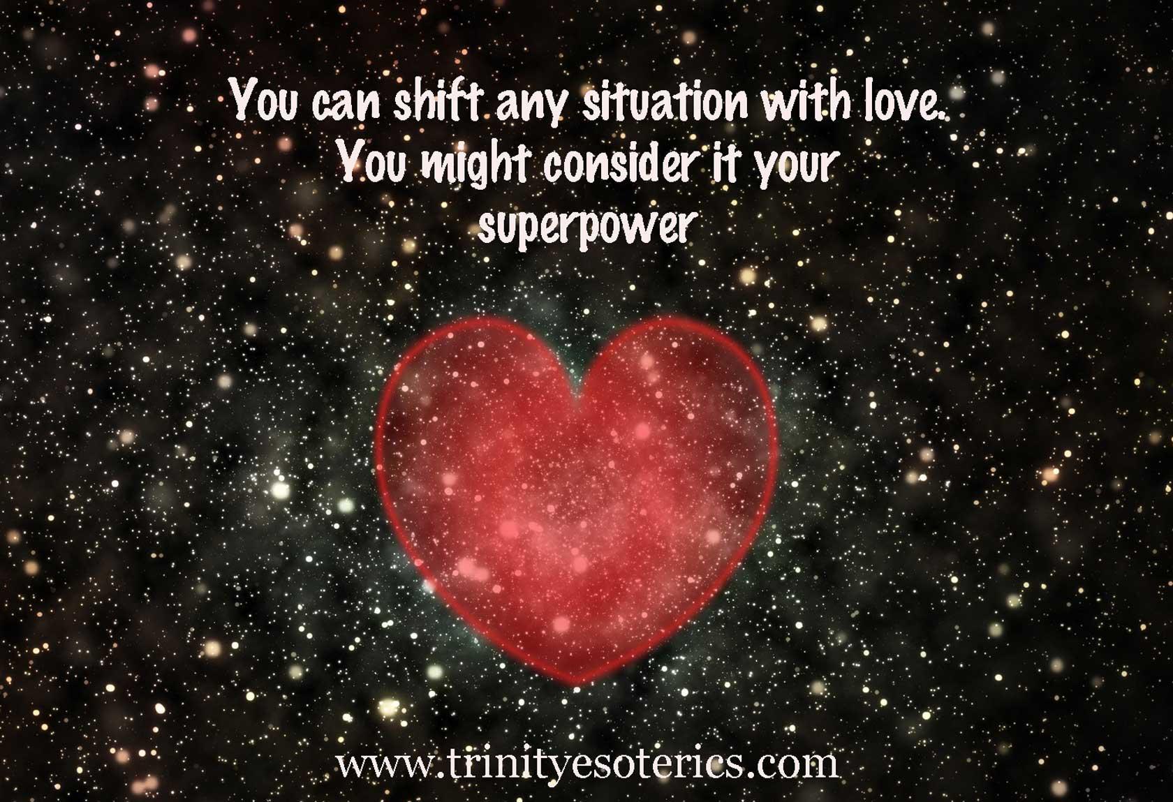 shimmering heart in universe trinity esoterics