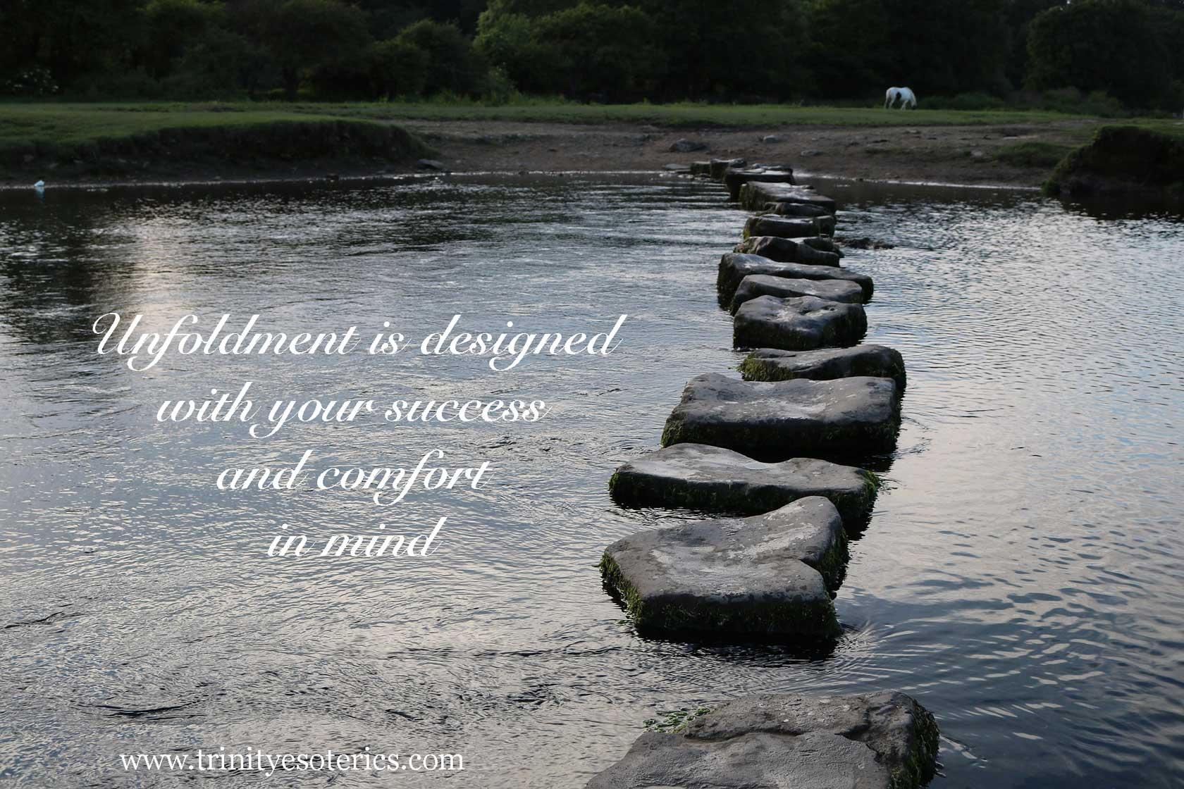 stepping stones across water trinity esoterics