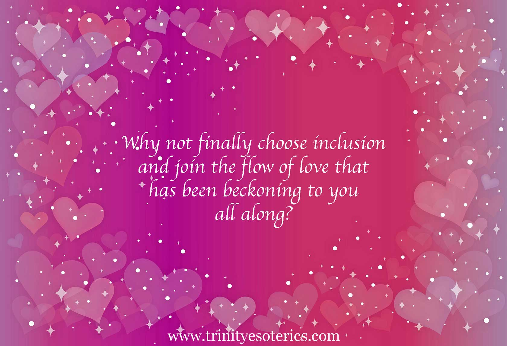sparkling heart background trinity esoterics
