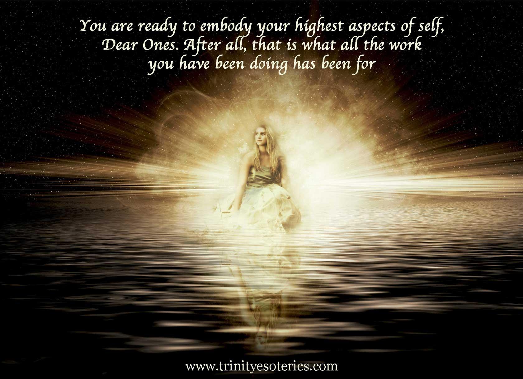 woman in light trinity esoterics