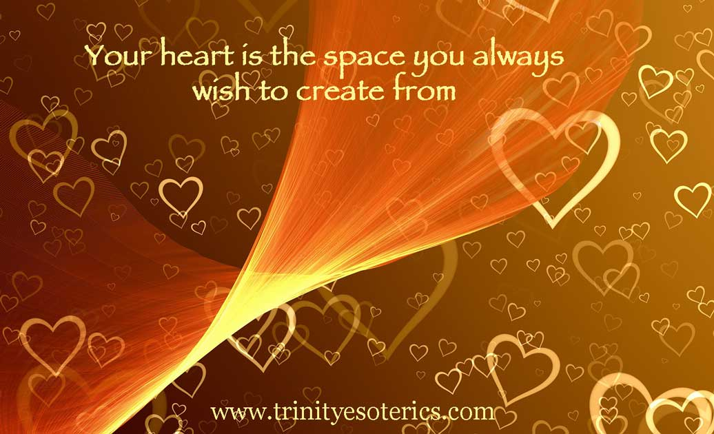 abstract heart flow trinity esoterics