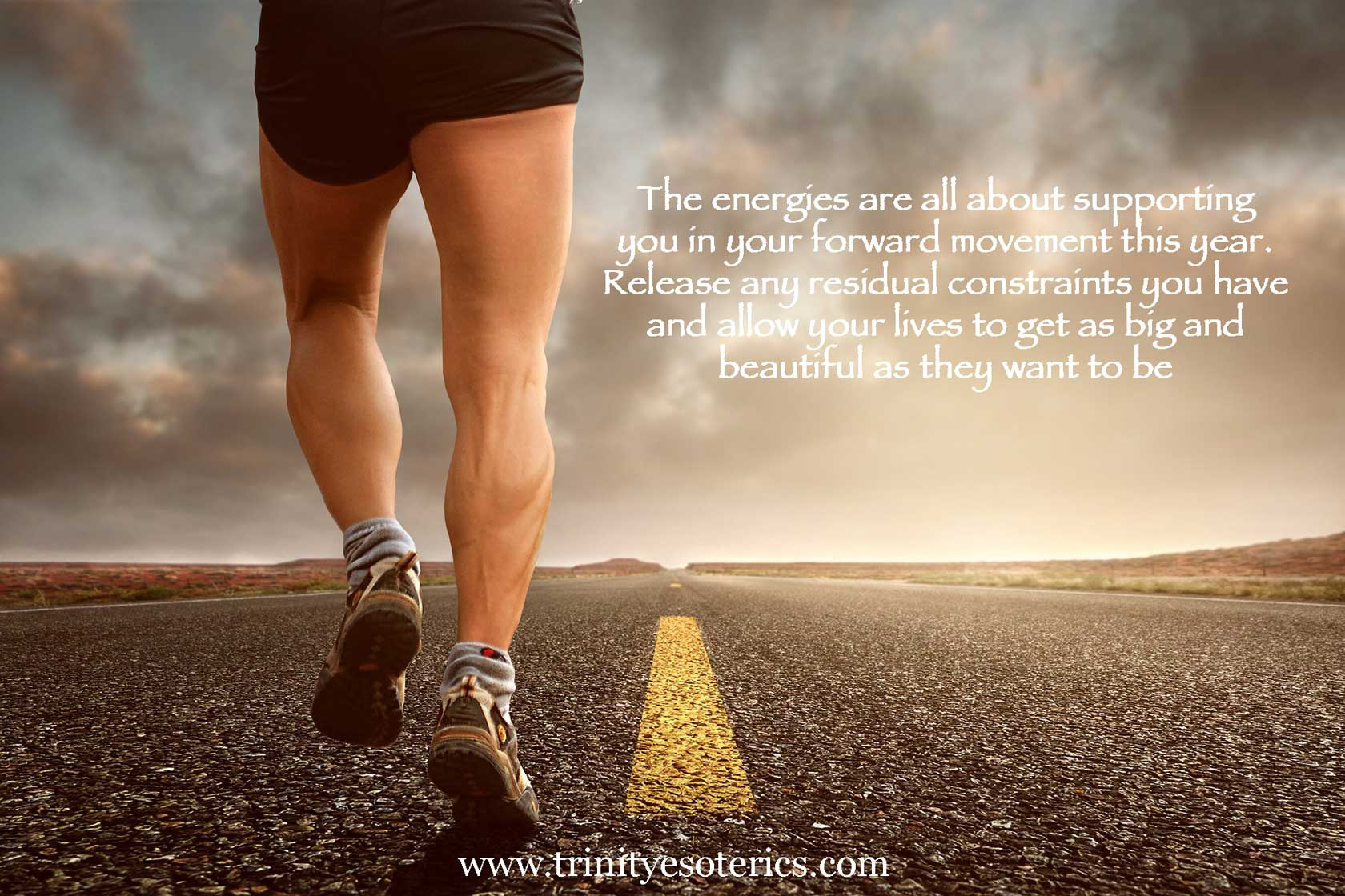 man jogging on highway trinity esoterics