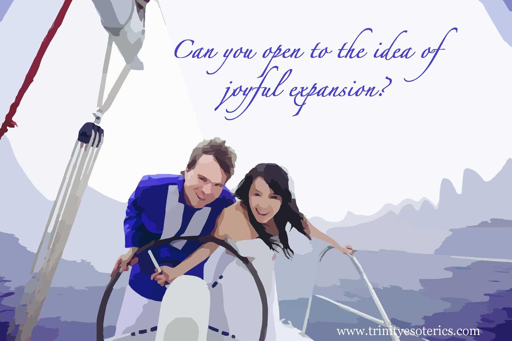joyful couple sailing trinity esoterics