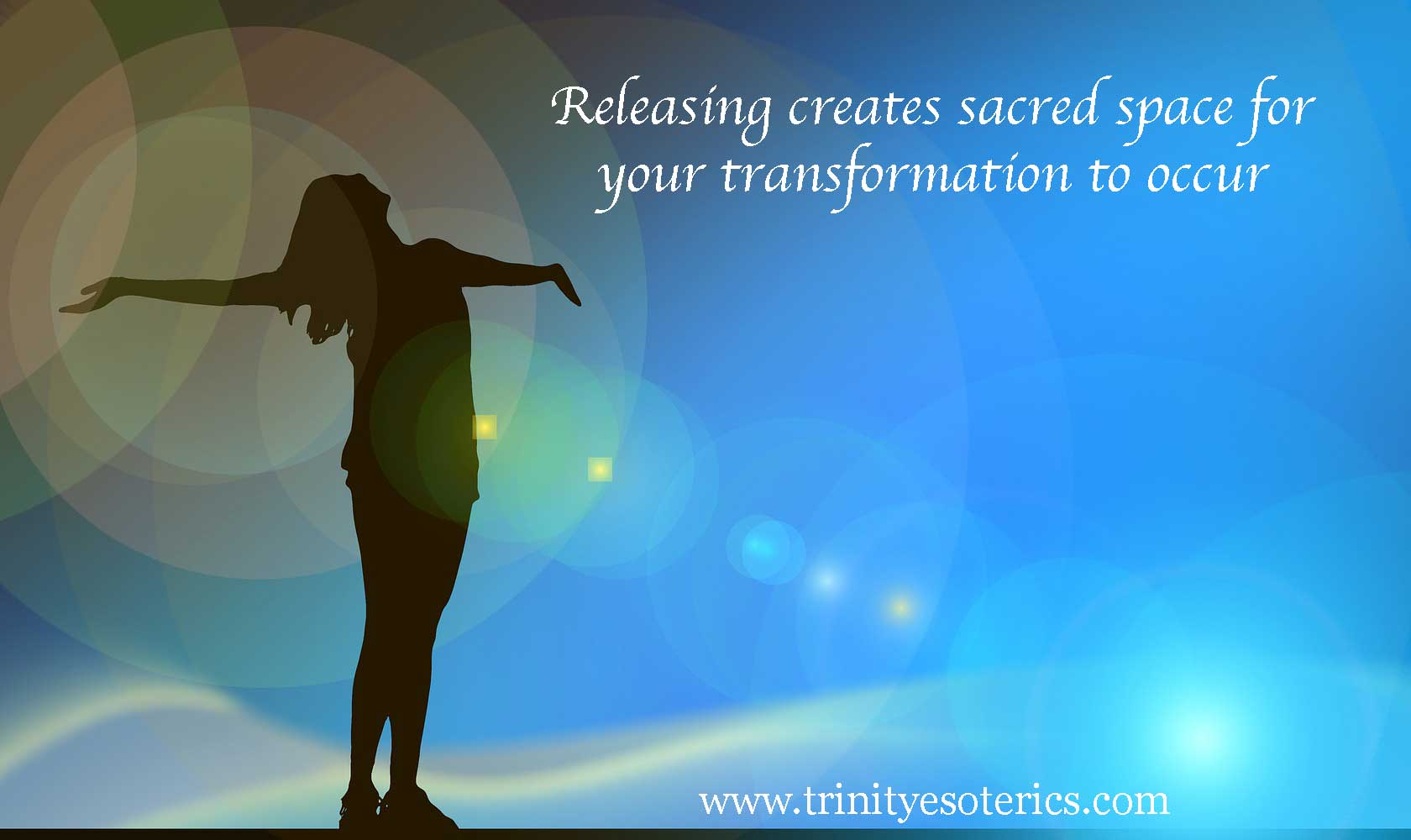 woman releasing trinity esoterics