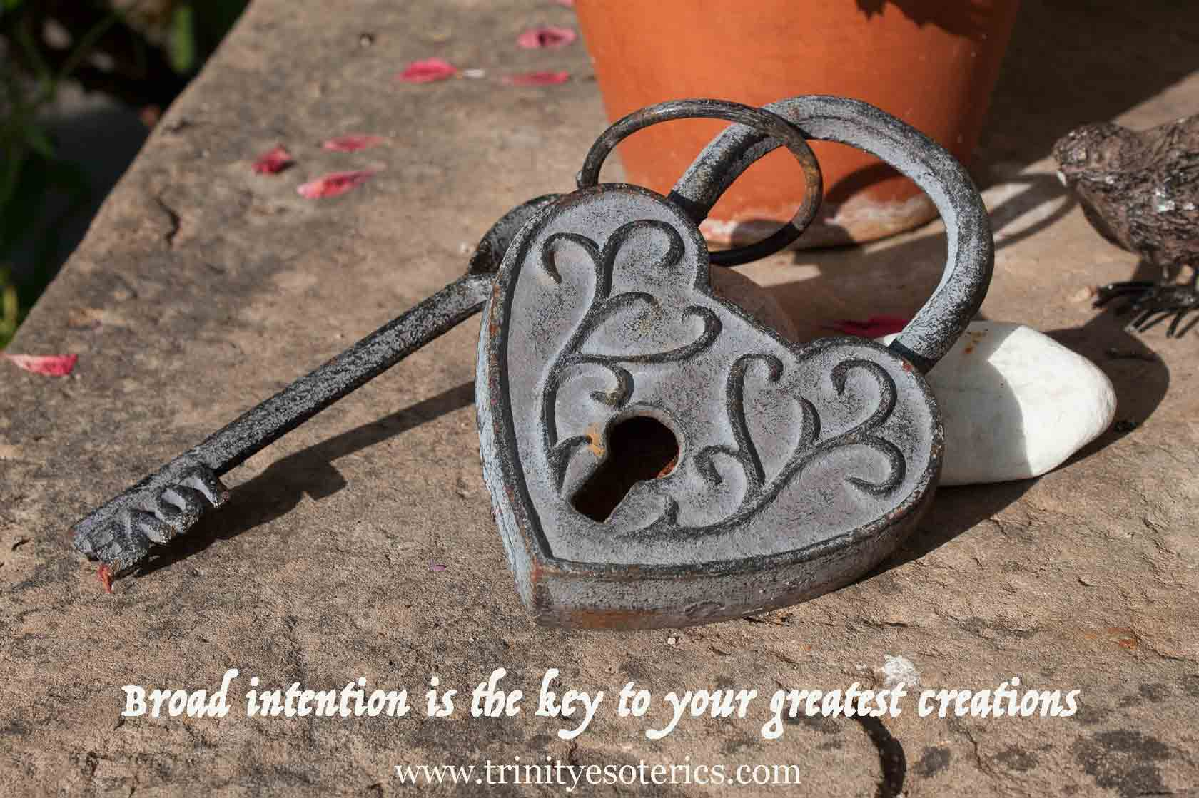 ornate lock and key trinity esoterics