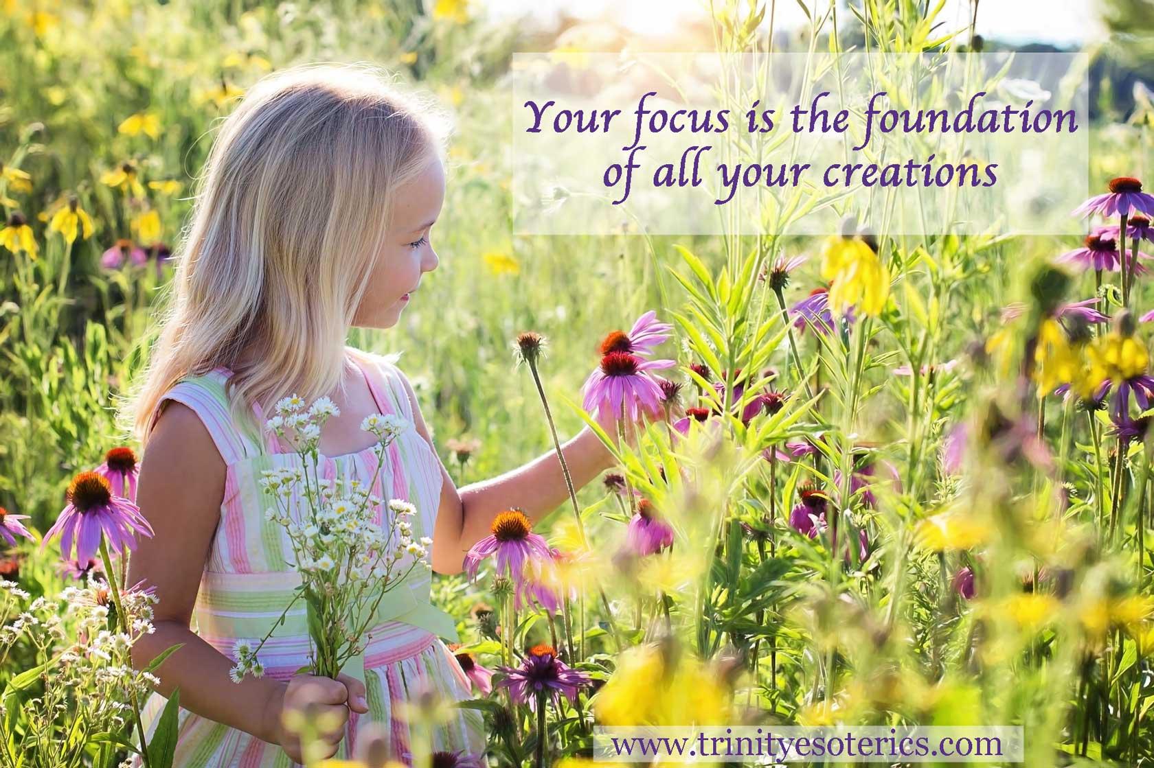 child admiring flower trinity esoterics