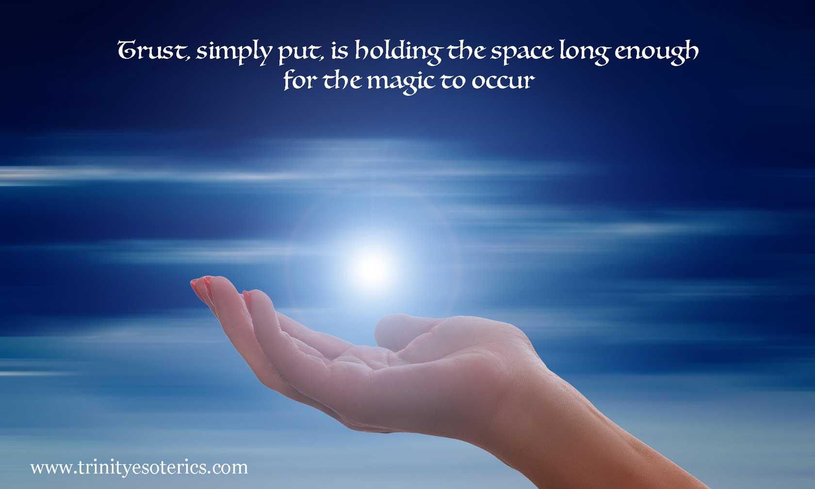 hand receiving light trinity esoterics