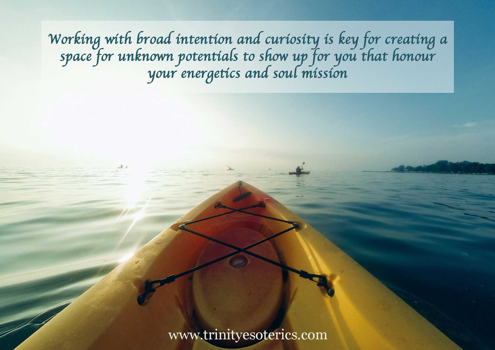 kayak in open water trinity esoterics