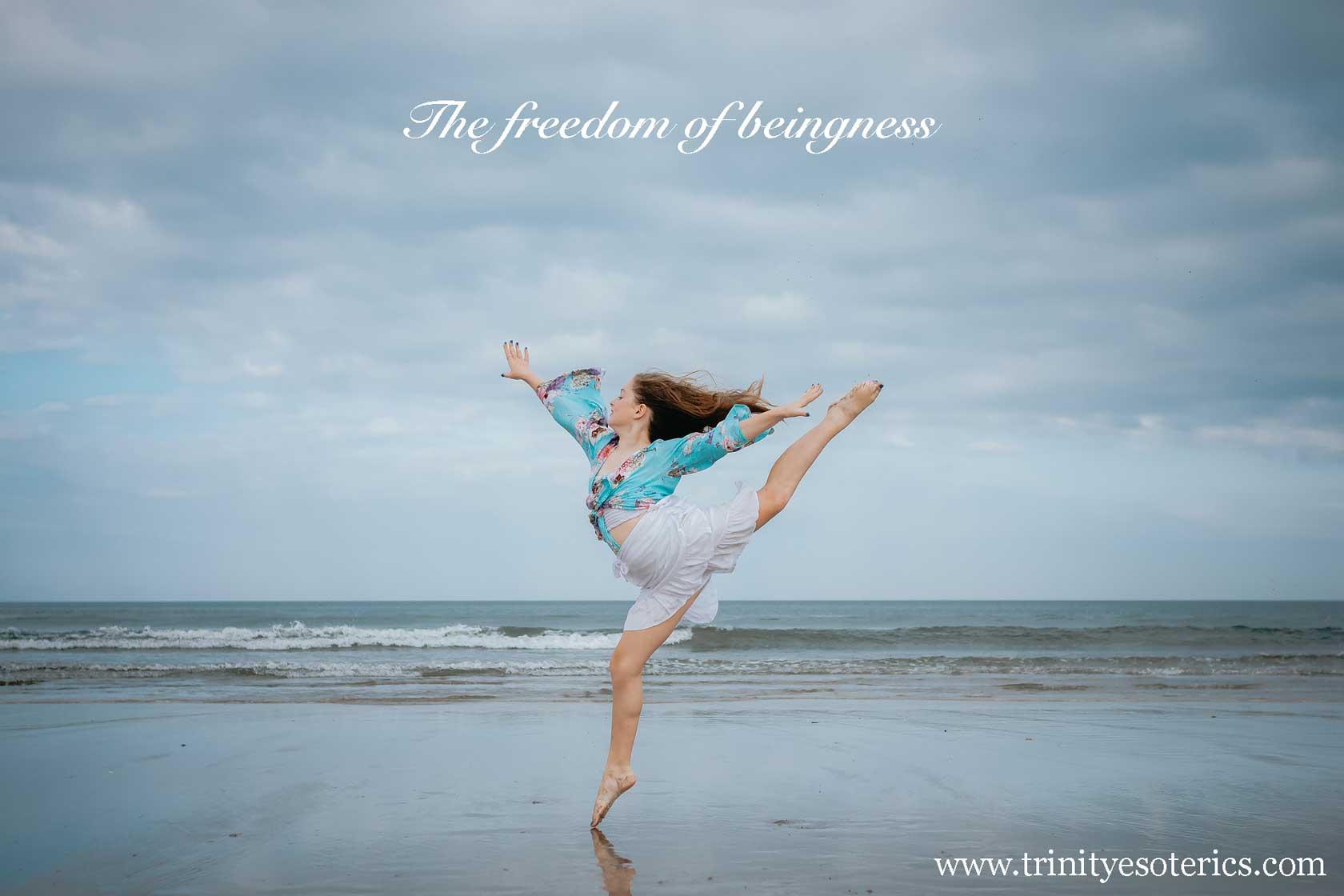 woman dancing on beach trinity esoterics