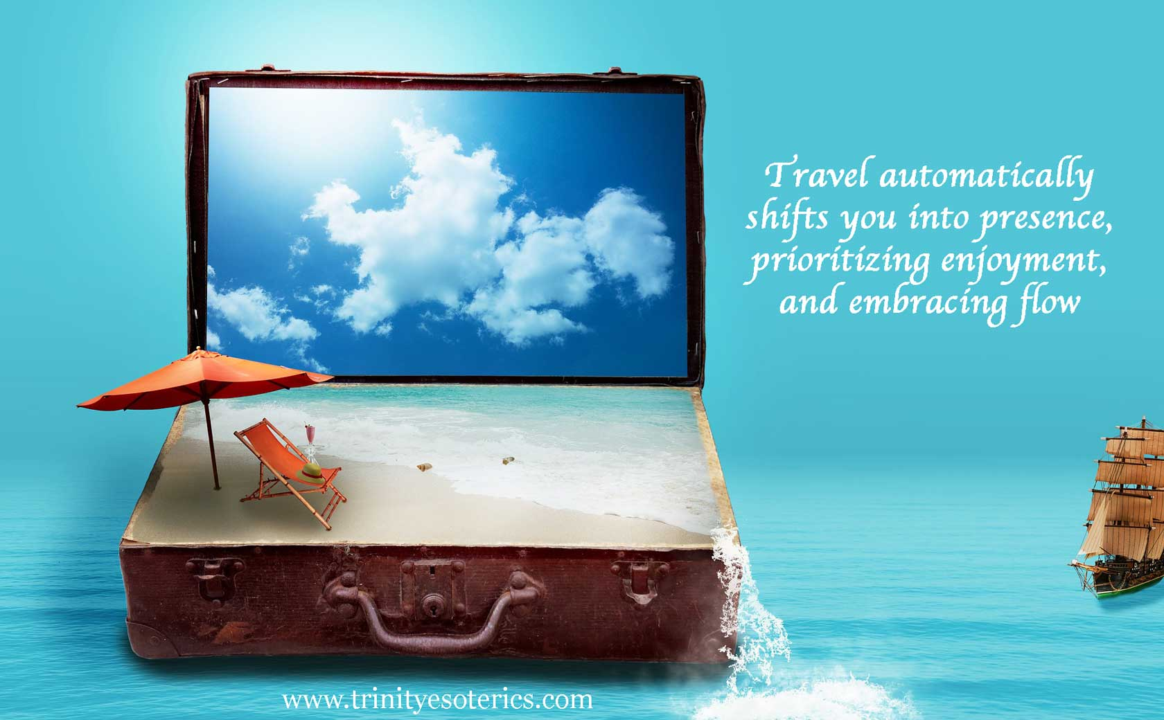 travel suitcase trinity esoterics