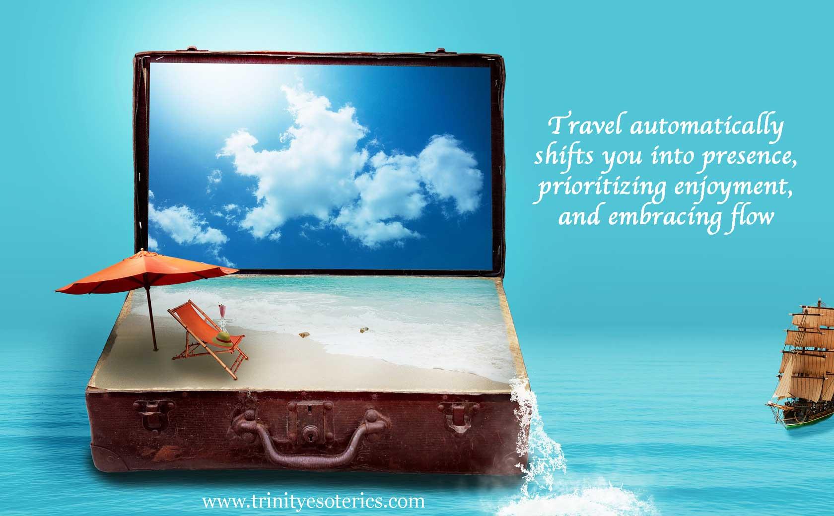 travel suitcase trinity esoterics