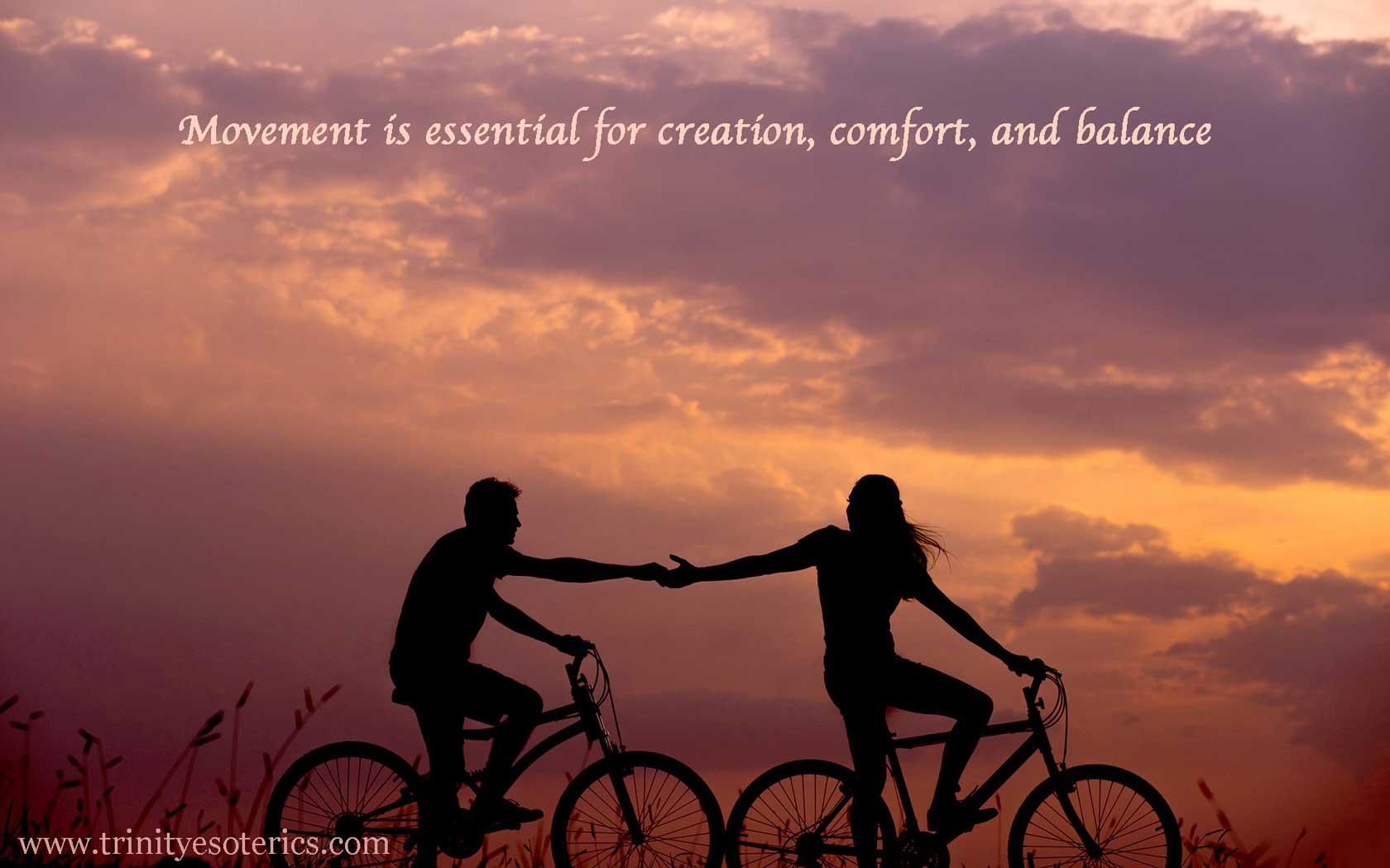 bicycle riders trinity esoterics