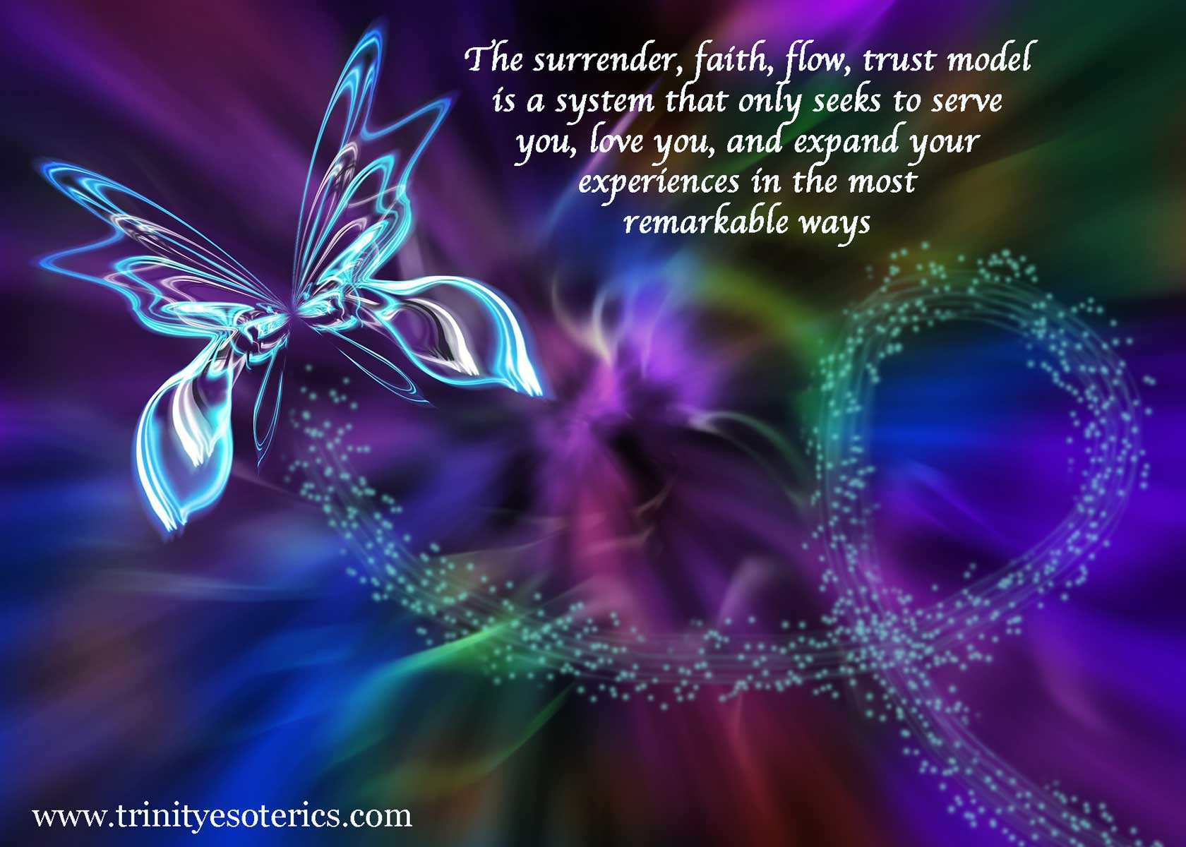 abstract butterfly flow trinity esoterics
