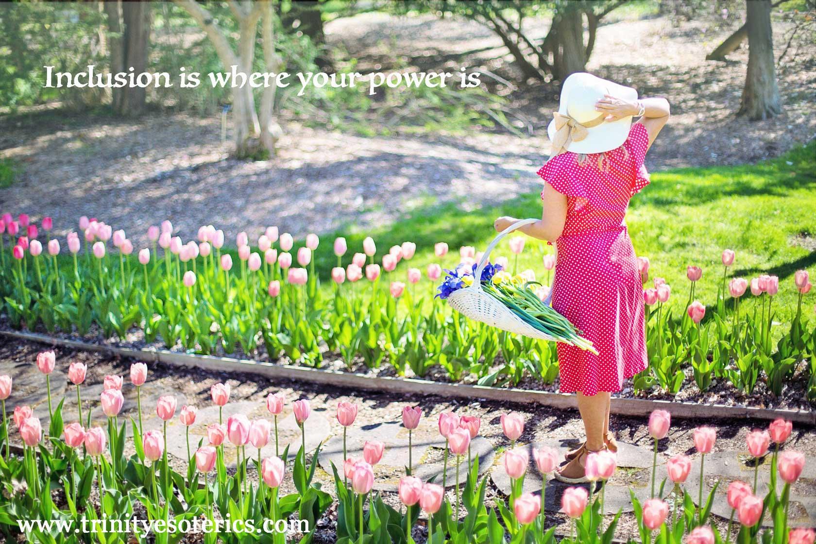 woman picking flowers trinity esoterics